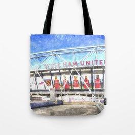 West Ham Olympic Stadium London Art Tote Bag