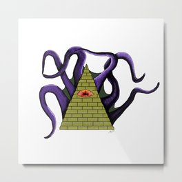 The Abyss Gazes Also Into You Metal Print