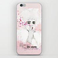 fashion illustration iPhone & iPod Skins featuring FASHION ILLUSTRATION 9 by Justyna Kucharska