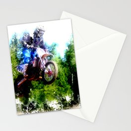 """""""Dare to Fly"""" Motocross Racer Stationery Cards"""