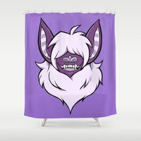 bat Shower Curtains featuring bat by Psychonautic