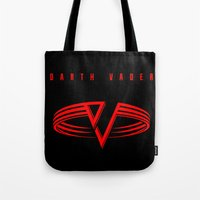 sith Tote Bags featuring Running With The Sith by Ant Atomic