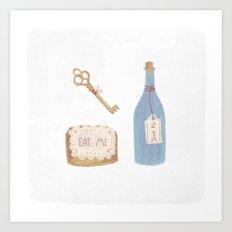 Alice Objects Art Print