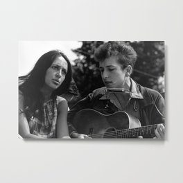Bob Dylan and Joan Baez at the March on Washington, 1963 Metal Print