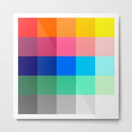 ART / ARTIST: Color Palette Metal Print