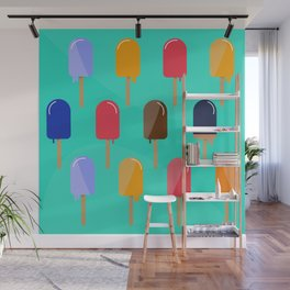 Hot Summer Popsicle Pattern Wall Mural