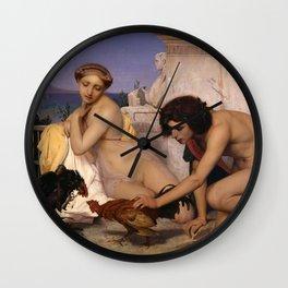 "Jean-Léon Gérôme ""Young Greeks Attending a Cock Fight"" Wall Clock"