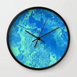 abstract Painting 04 aqua Wall Clock