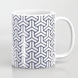 Japanese Yukata Jinbei Bishamon Navy reversed pattern Coffee Mug