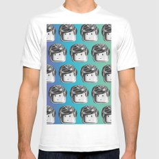 Minifigure Pattern - Cool White Mens Fitted Tee MEDIUM