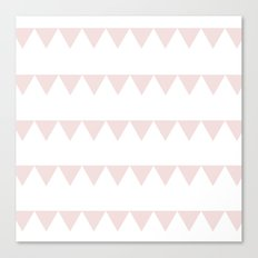 TRIANGLE BANNER (Muted Pink) Canvas Print
