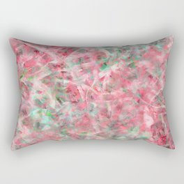Abstract Expressionist Dance in Pink, Green, and White Rectangular Pillow