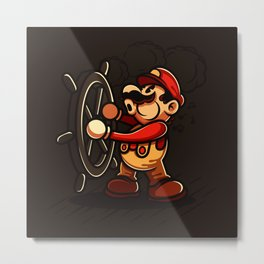 Steamboat Mario Metal Print