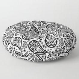 Paisley (Black & White Pattern) Floor Pillow