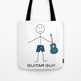 Funny Mens Guitar Guy - Acoustic Guitar Tote Bag