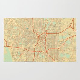 San Antonio Map Retro Rug