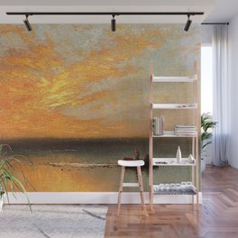 Coastal Golden Sunset, summer marine nautical landscape by Charles Henry Gifford Wall Mural