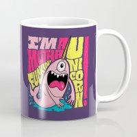 unicorn Mugs featuring UNICORN! by Chris Piascik