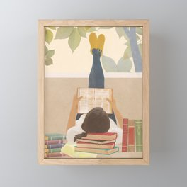 Bookworm Framed Mini Art Print