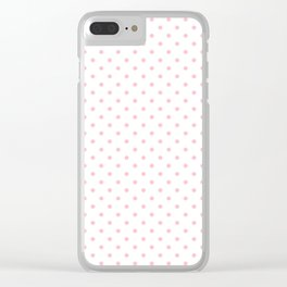 Dots (Pink/White) Clear iPhone Case
