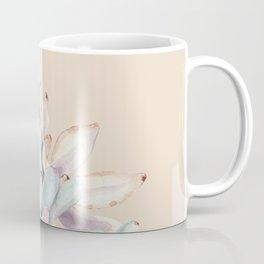 Trendy Apricot + Mint Succulents Coffee Mug