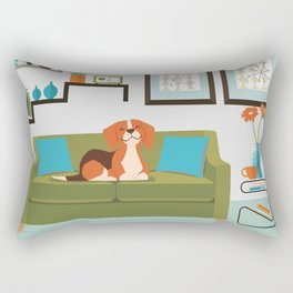Happy Beagles Make A House A Home Rectangular Pillow