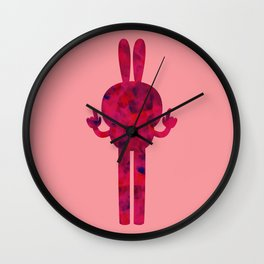 BUNNY X BACK Wall Clock
