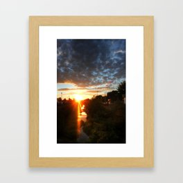 Sunset over Suburbia Framed Art Print