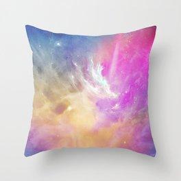 Galactic waves Throw Pillow