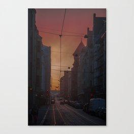 Helsinki Streets Canvas Print