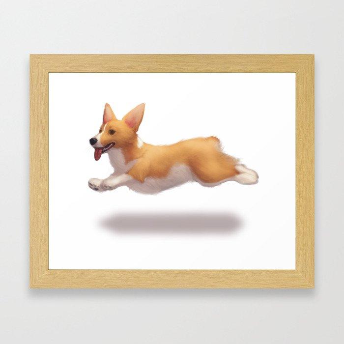 my corgi Framed Art Print