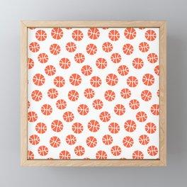 Basketball Pattern Framed Mini Art Print
