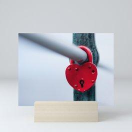 Red Heart Lock Mini Art Print