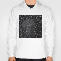 jelly fish Hoodies featuring Jelly Fish by OKAINA IMAGE