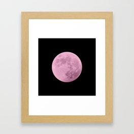 PINK MOON // BLACK SKY Framed Art Print