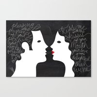 Your Love is More Delightful than Wine Canvas Print