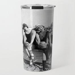 Vintage Bathing Beauties on the Beach Travel Mug