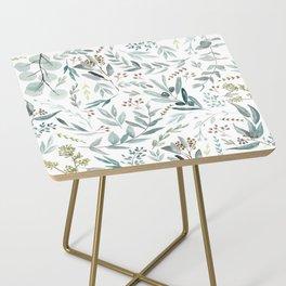 Eucalyptus pattern Side Table