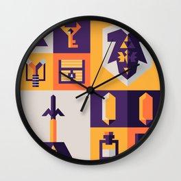 Legend of Zelda Items Wall Clock