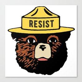 SMOKEY THE BEAR SAYS RESIST Canvas Print