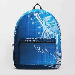 Bong Patent Blueprint Drawing Backpack