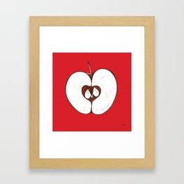 Adam & Eve. Another story of apple. Framed Art Print
