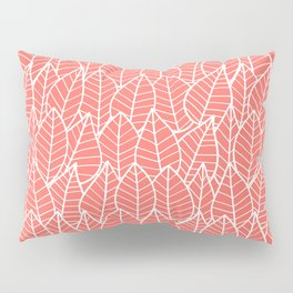 Botanics in Coral Pillow Sham