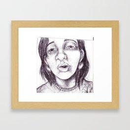 tired talk Framed Art Print