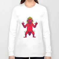 fat Long Sleeve T-shirts featuring Fat Demon by  Grotesquer