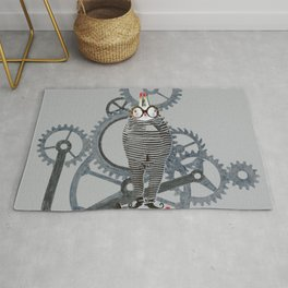 Time Cons Time Rabbit Rug