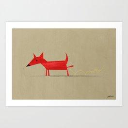 Red Dog2 Art Print