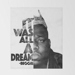 Urban Biggie Smalls Lyrics/Text Font Throw Blanket