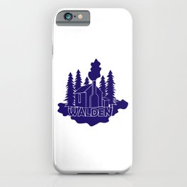 Walden - Henry David Thoreau (Blue version) iPhone Case
