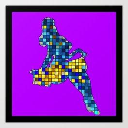 Pixelated Pin Up- Chun-Li Fan Art Art Print